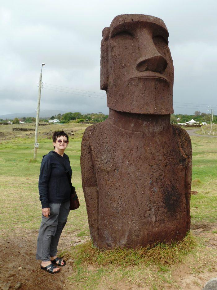 Jenny Abraham at Easter Island