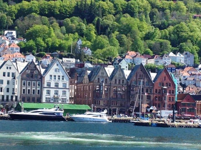 Scenic dock view at Bergen, Norway