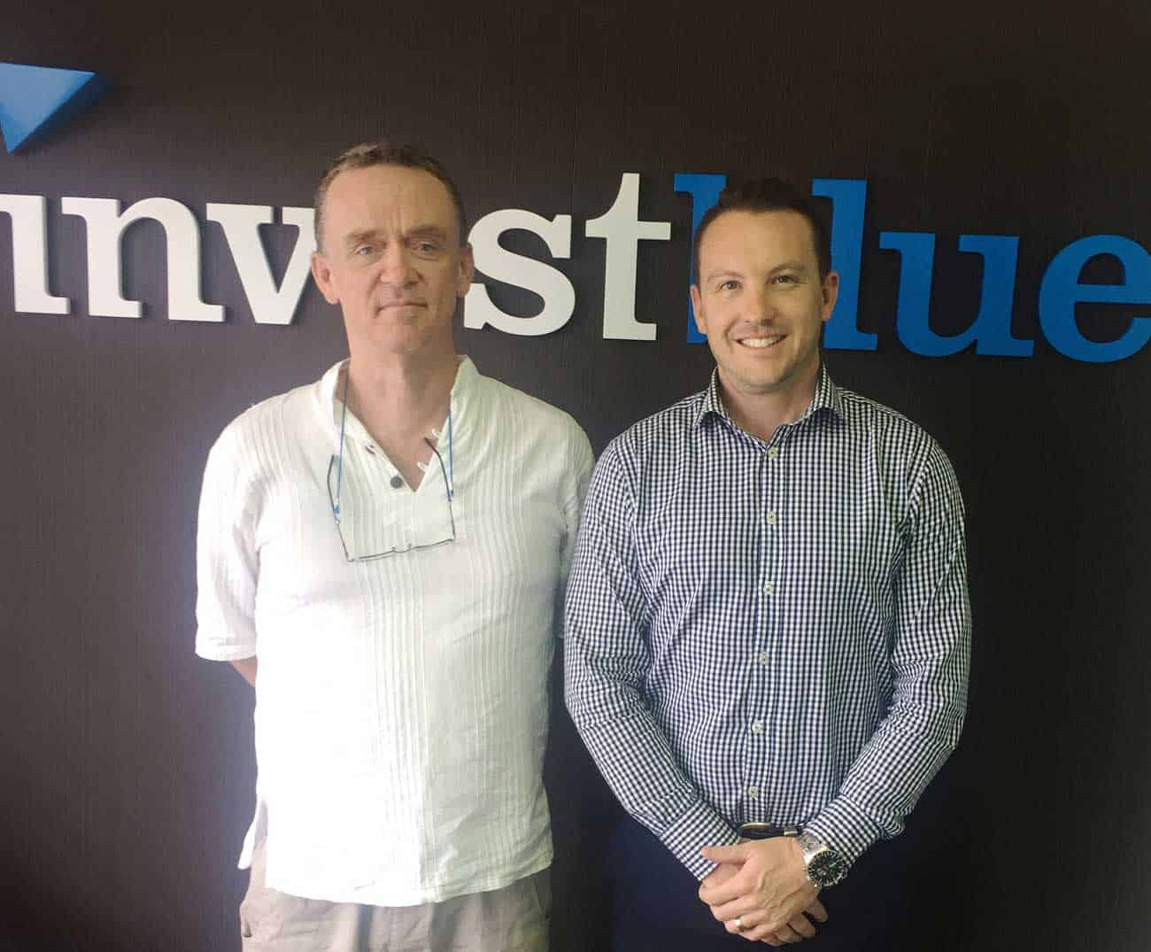 Shane and Ben at the Invest Blue Coffs Harbour Office