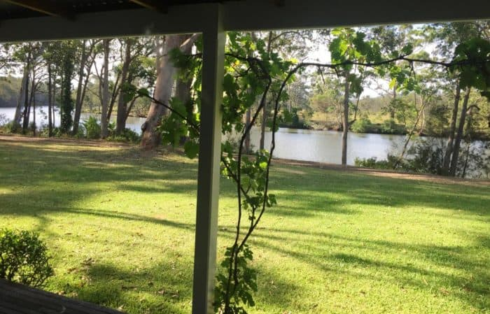 View of the river from Eamonn and Moira McCabe's house on their investment property.