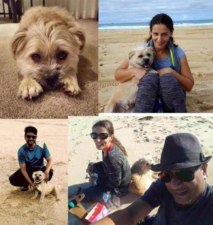 Sudhanshu And Maria With Their Pet Dog-Invest Blue