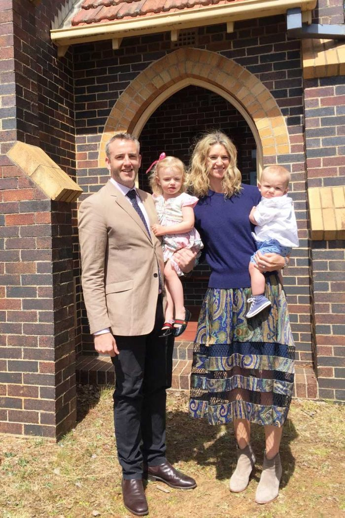 Invest Blue Financial Controller Carl Trevaskis with his family