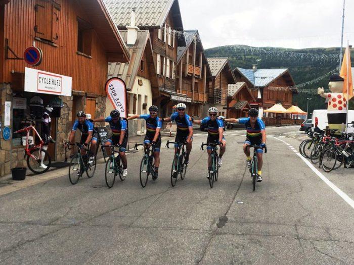 Group line at le Tour De France
