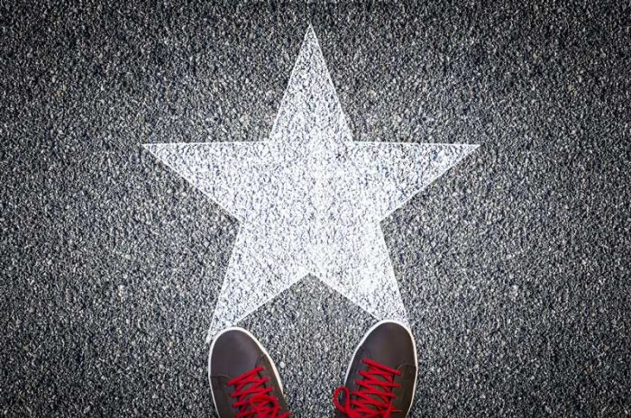 shoes on the star of fame