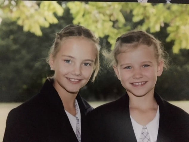 Kasey's daughter, Paige, nine, and Tilly, seven
