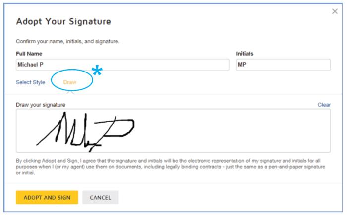 adopt signature