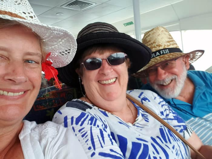 Darryl & Ann travelling with a friend