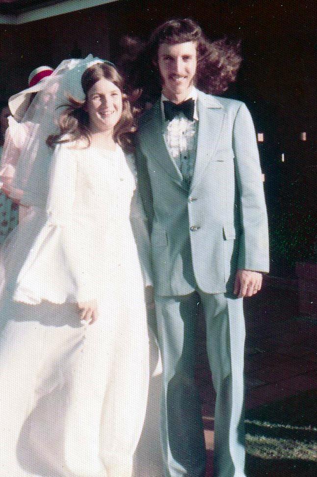 lilian jones and husband - wedding day